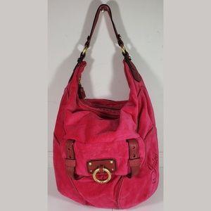 Juicy Couture Hot Pink Croc Embossed Bag